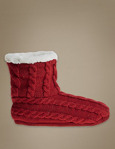 Cable Short Bootie Socks