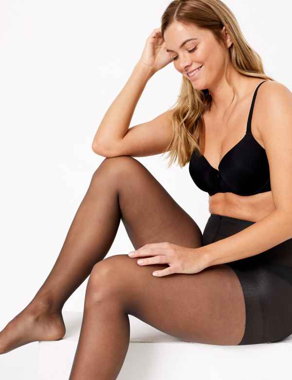 7b9133d80 2 Pair Pack 7 Denier Secret Slimming™ Sheer Body Shaper Tights
