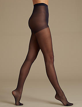 5 Pair Pack 15 Denier Sheer Shine Tights