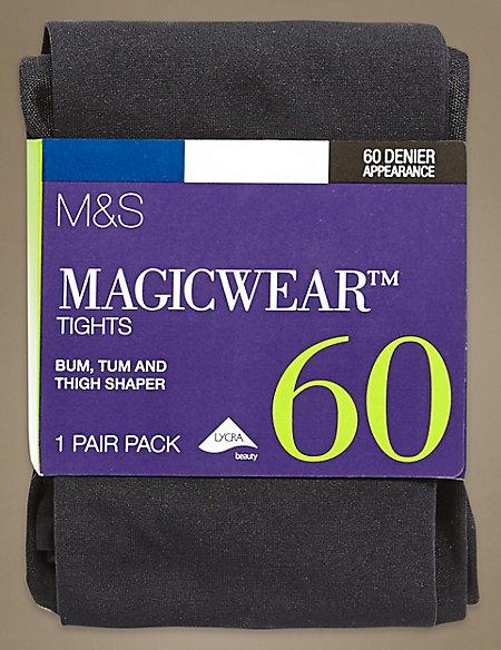 60 Denier Body Sensor™ Magicwear™ Bum, Tum & Thigh Opaque Body Shaper Tights