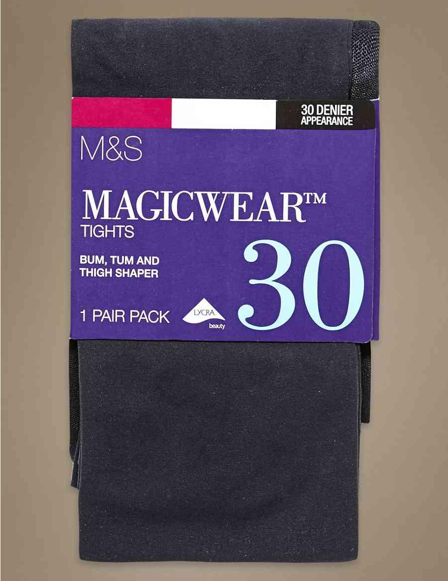 8b07cc591366d 30 Denier Body Sensor™ Magicwear™ Opaque Bodyshaper Tights