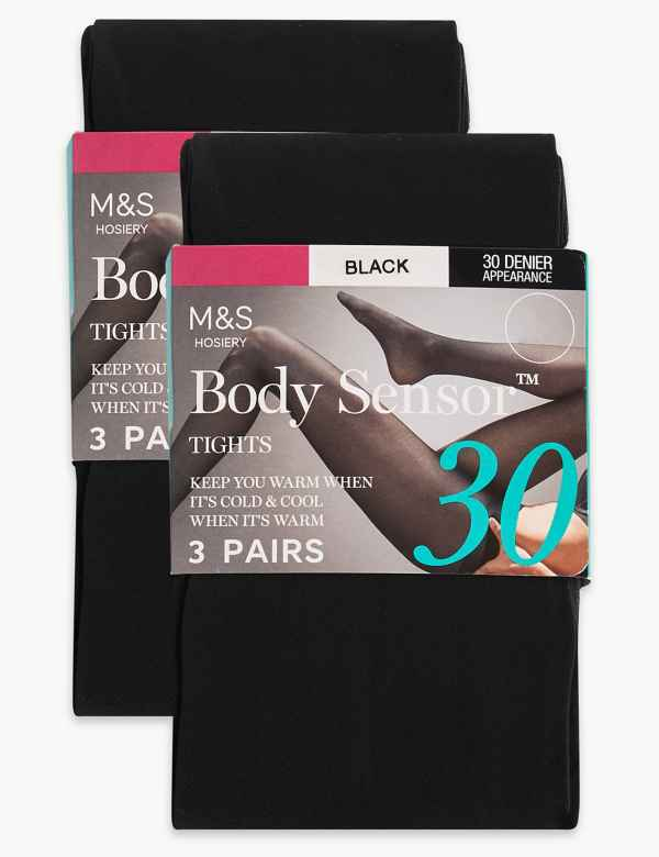 8f9567333 6 Pair Pack Body Sensor™ Opaque Tights