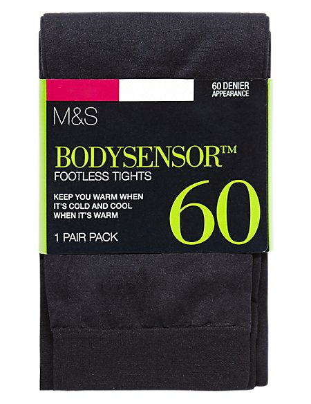 60 Denier Body Sensor™ Opaque Footless Tights