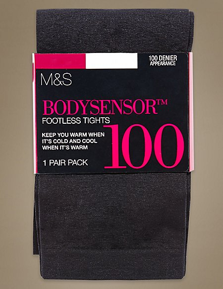 100 Denier Body Sensor™ Opaque Footless Tights