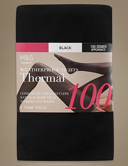 100 Denier Thermal Tights