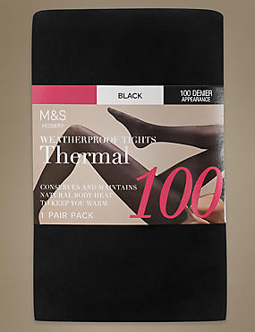 100 Denier Thermal Tights