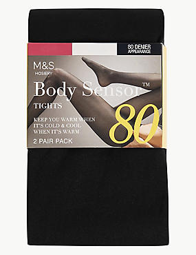 2 Pair Pack 80 Denier Body Sensor™ Tights