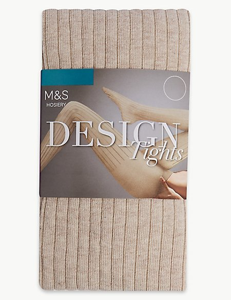 Ribbed Heavy Weight Opaque Tights