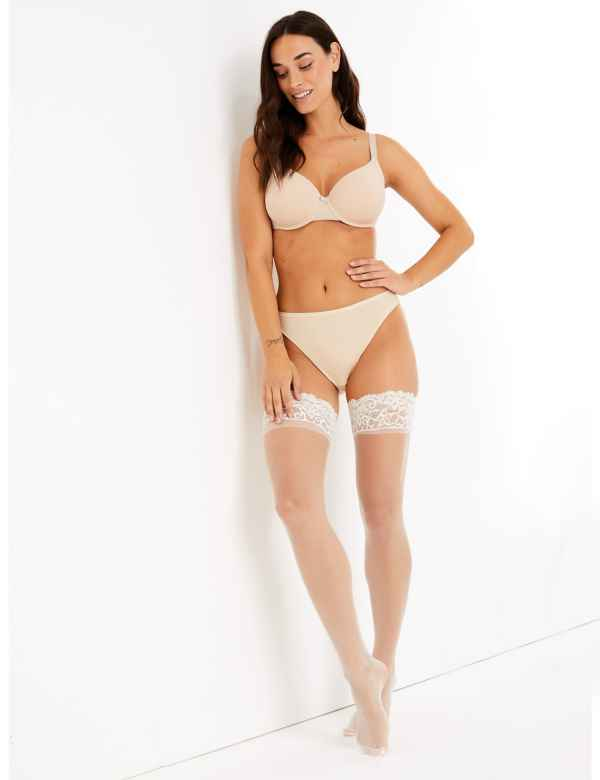 ad14ffa16c5 10 Denier Matt Bridal Hold-ups