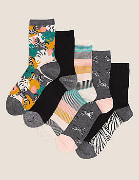 5pk Sumptuously Soft™ Ankle High Socks