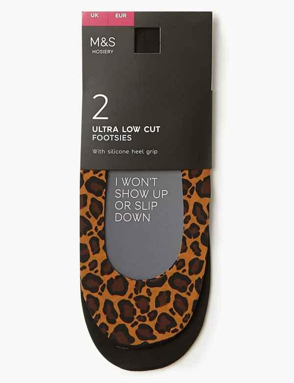2778a2f10c0b 2 Pair Pack Ultra Low Cut Footsies