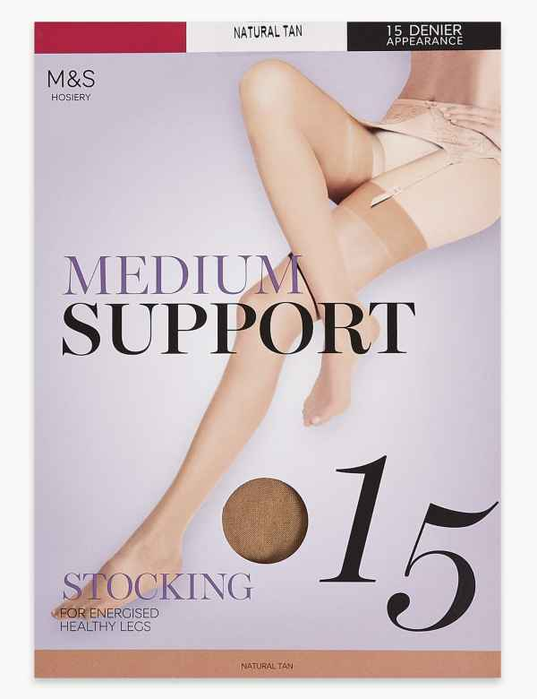 cdc40de46 15 Denier Medium Support Stockings