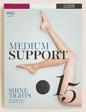 15 Denier Medium Support Sheer Tights