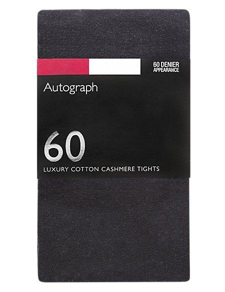 100 Denier Cotton Cashmere Opaque Tights 1 Pair Pack