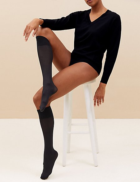 3 Pair Pack Opaque Knee Highs