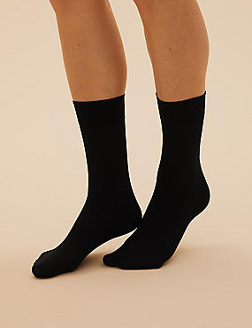 3 Pair Pack 40 Denier Opaque Ankle Highs Super Soft