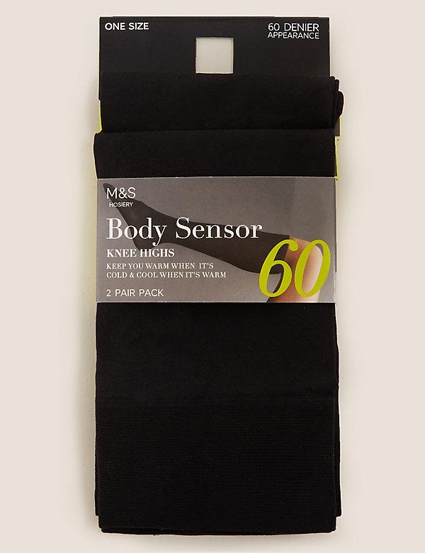 2pk 60 Denier Body Sensor™ Opaque Knee Highs