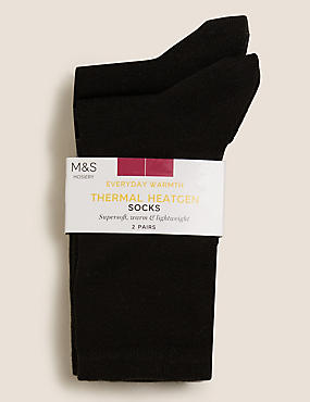 2 Pair Pack Heatgen™ Ankle High Socks