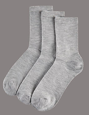 3 Pair Pack Modal Rich Ankle High Socks