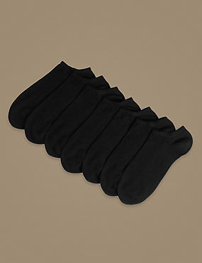 7 Pair Pack Supersoft Trainer Liner Socks