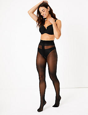 2 Pair Pack 15 Denier Ladder Resist Shine Tights