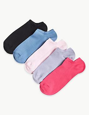 5 Pair Pack Sports Trainer Liner Socks