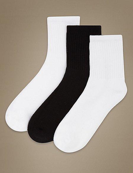 3 Pair Pack Sports Ankle Socks