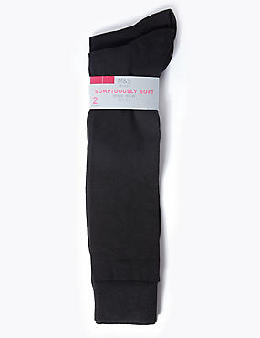 2 Pair Pack Soft Knee High Socks