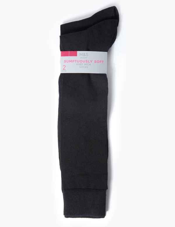 50b2a9c936e 2 Pair Pack Soft Knee High Socks