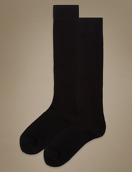 2 Pair Pack Supersoft Knee High Socks