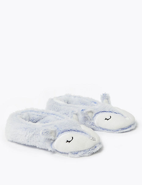 Fleece Lined Arctic Fox Slipper Socks