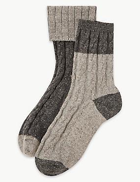 b54c018e737 2 Pair Pack Thermal Ankle High Socks ...