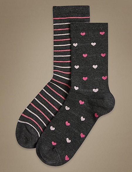 2 Pair Pack Heatgen™ Ankle High Socks
