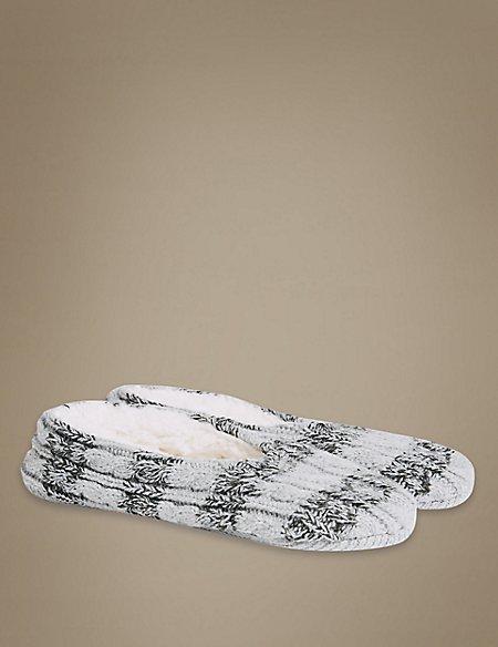 Striped Ballet Slipper Socks