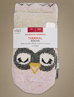 2 Pair Pack Thermal Socks