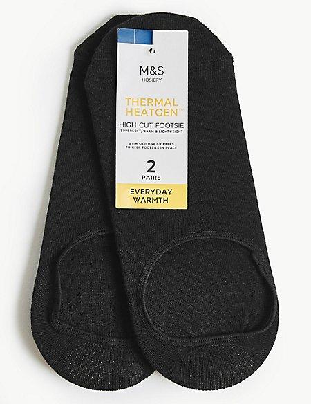 2 Pair Pack Thermal Heatgen™ High Cut Footsies