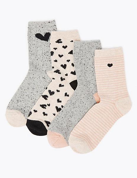 4 Pack Cotton Rich Heavyweight Socks