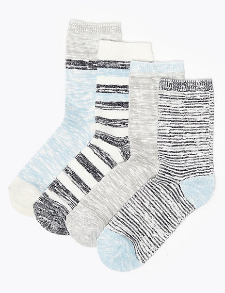4 Pack Sumptuously Soft Ankle Socks
