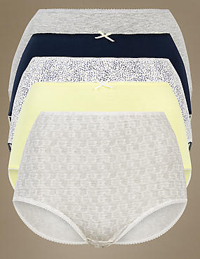 5 Pack Cotton Rich Full Briefs