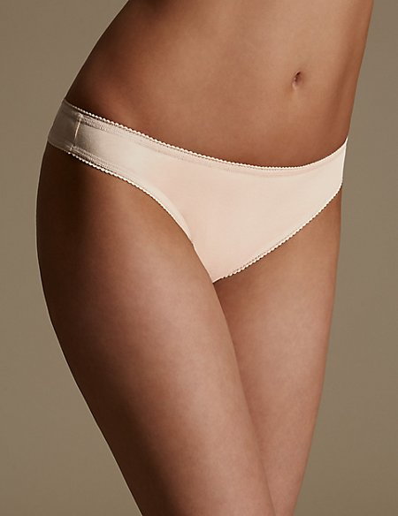 5 Pack Cotton Rich Assorted Low Rise Thongs
