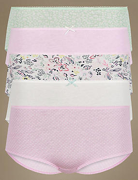 5 Pack Pure Cotton Low Rise Shorts