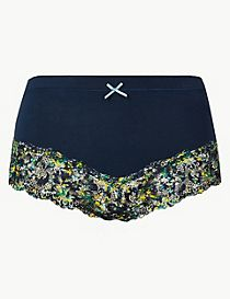 Cotton Rich Printed Brazilian Knickers