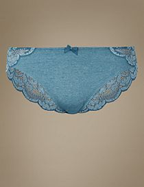 Ornate Lace High Leg Knickers