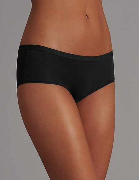 3 Pack Low Rise Shorts with Modal