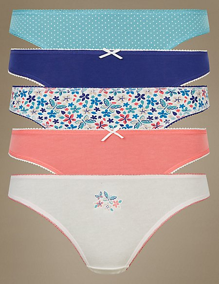 5 Pack Cotton Rich Thong