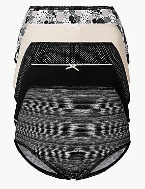 5 Pack Cotton Rich Full Brief Knickers