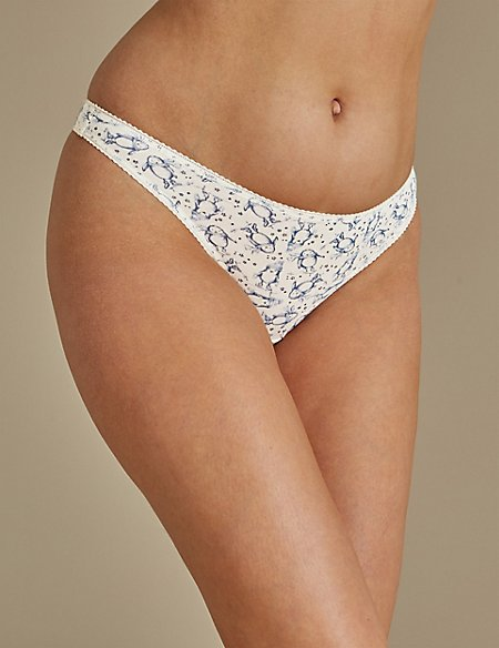 5 Pack Cotton Rich Thongs