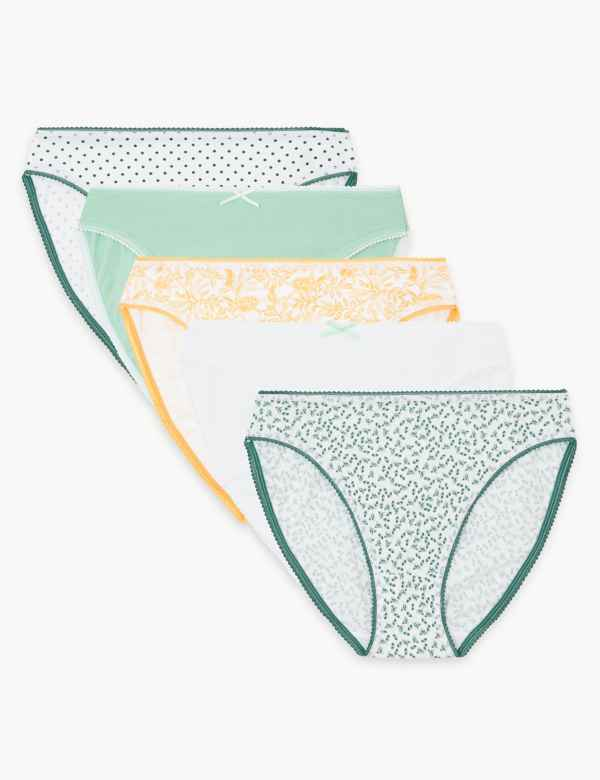 c3a302ef2 5 Pack Cotton Rich High Leg Knickers