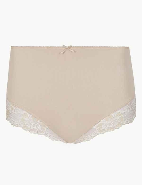7a0c871073 Cotton Rich Lace Cuffed Full Briefs