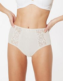 Jacquard Lace High Rise Full Briefs